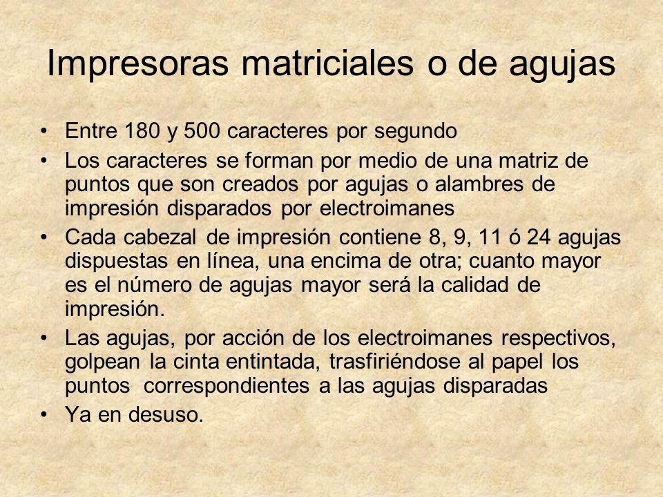Impresoras matriciales o de agujas