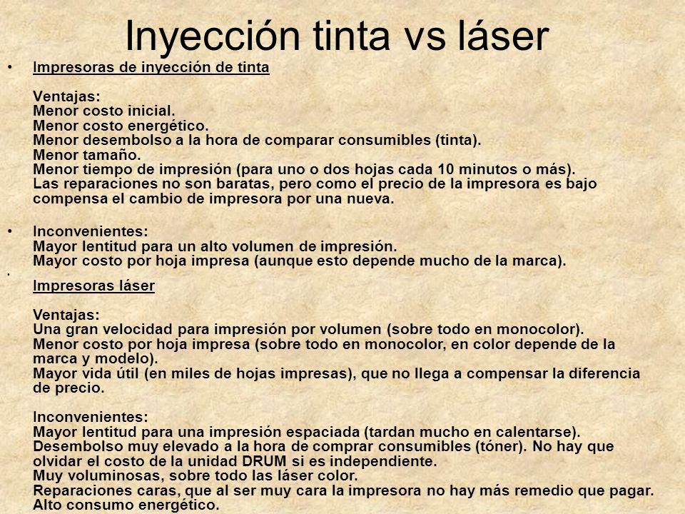 Inyección tinta vs láser