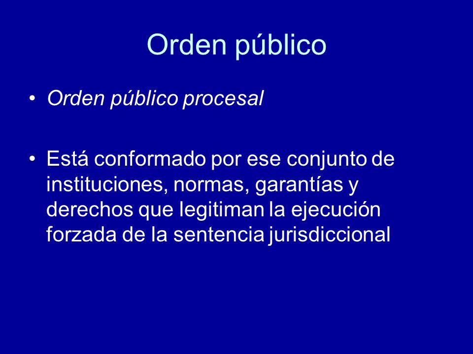 Orden público Orden público procesal