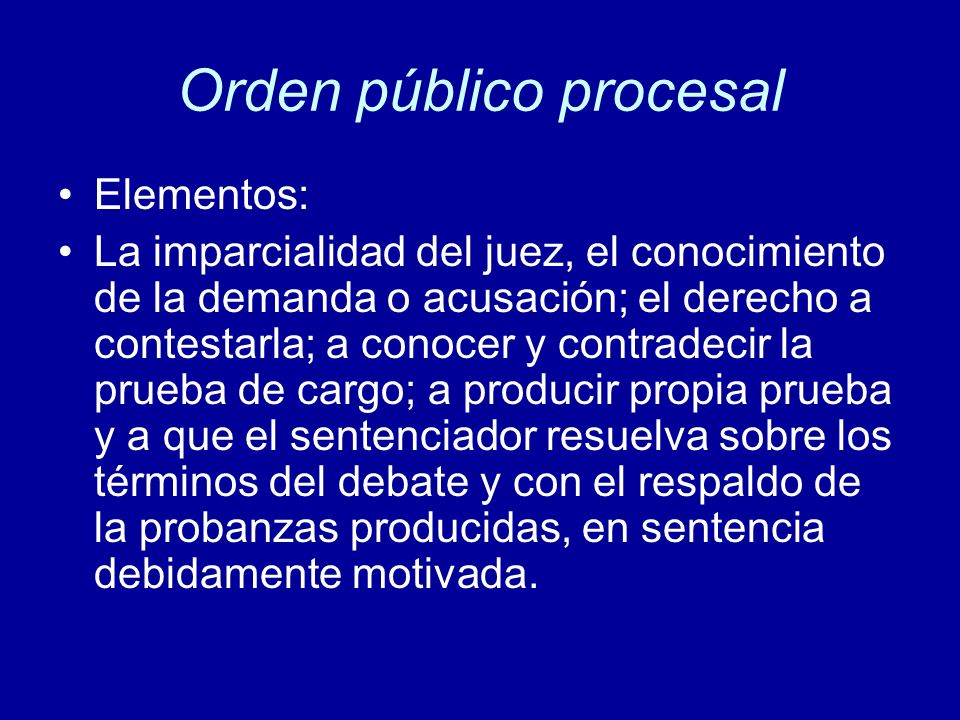 Orden público procesal