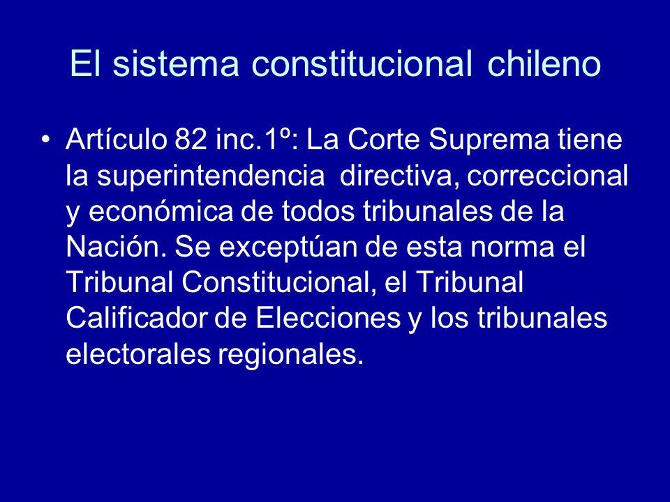 El sistema constitucional chileno