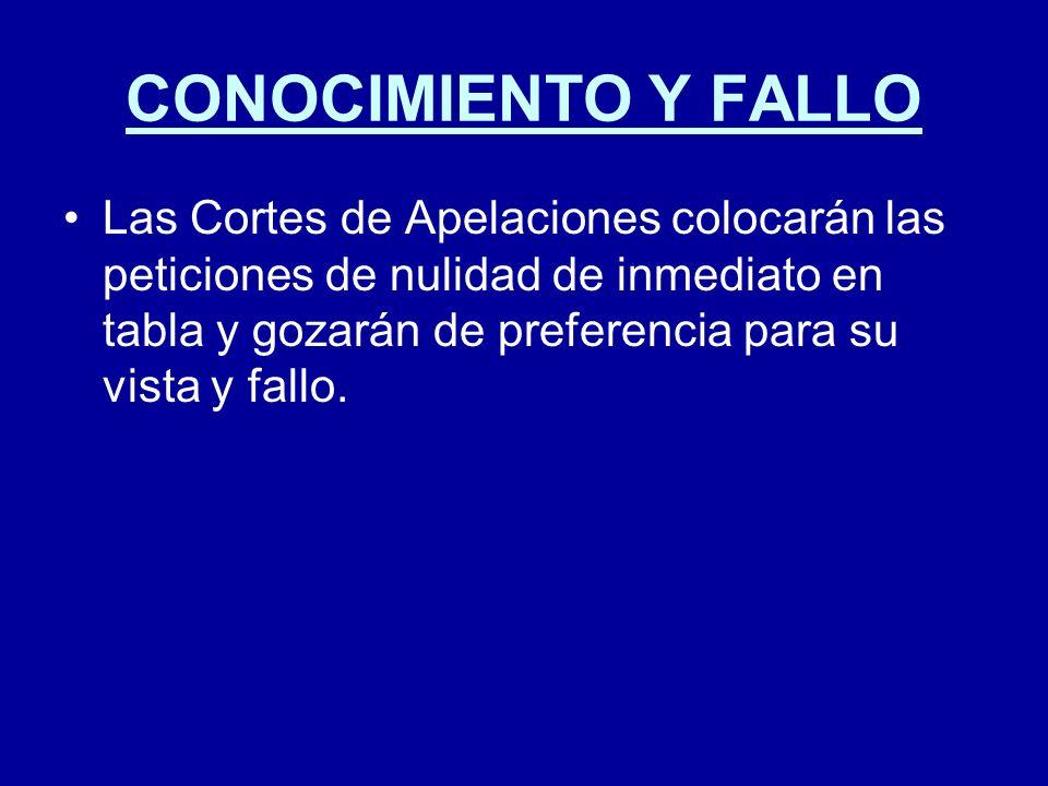 CONOCIMIENTO Y FALLO