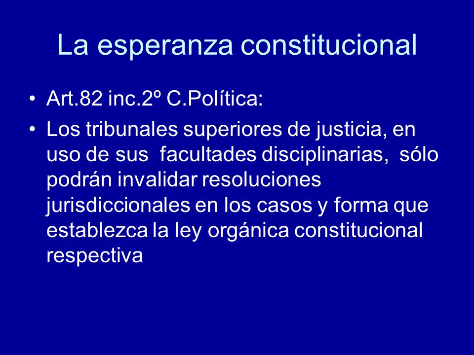 La esperanza constitucional