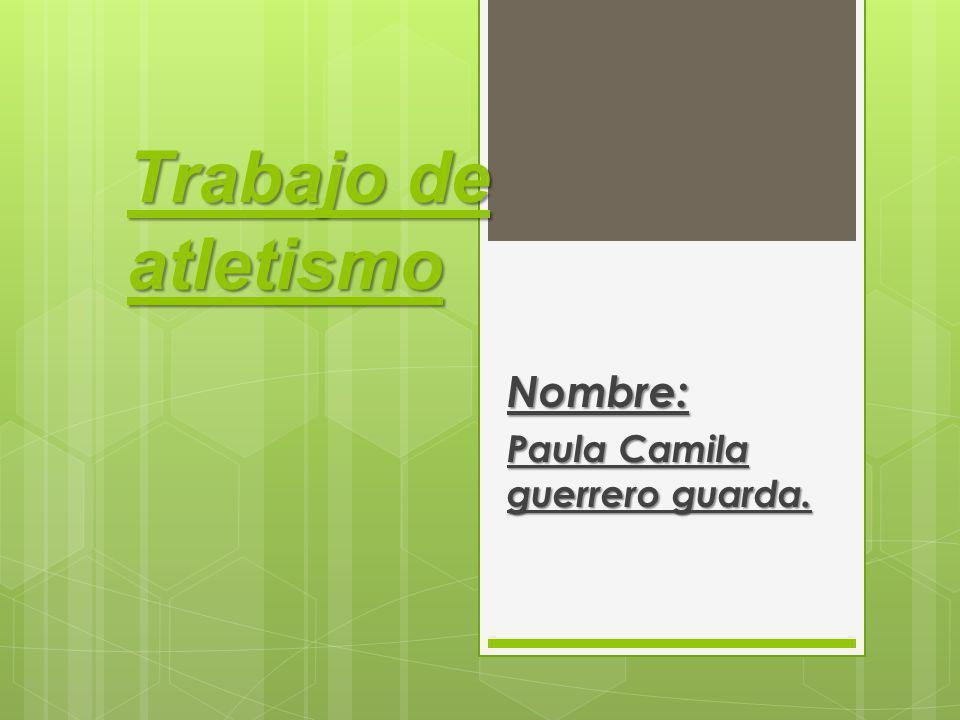Nombre: Paula Camila guerrero guarda.