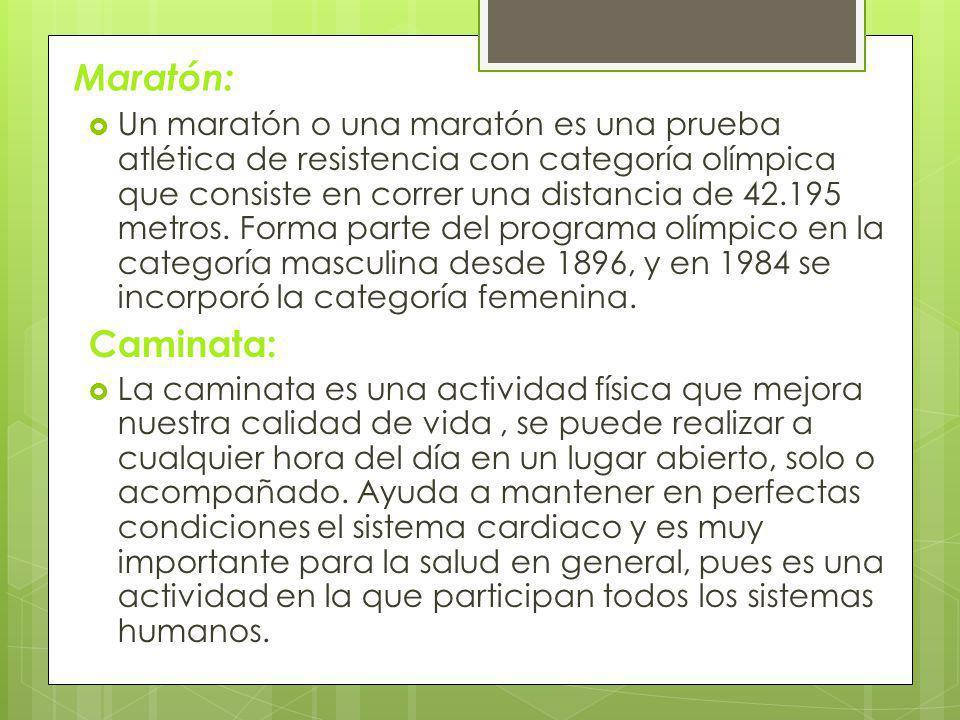 Maratón: