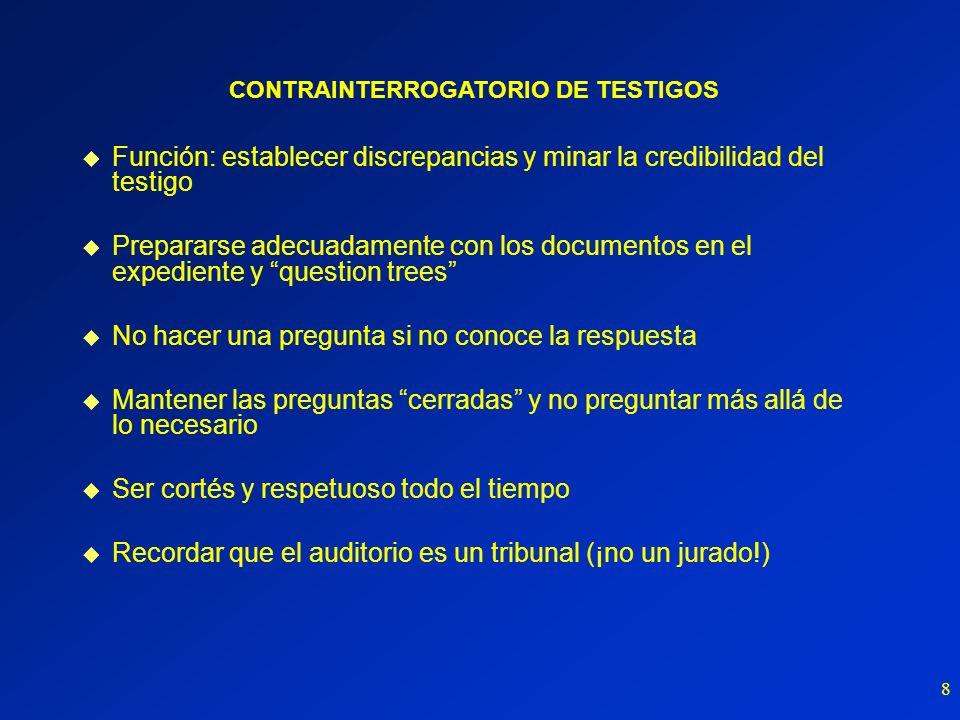 CONTRAINTERROGATORIO DE TESTIGOS
