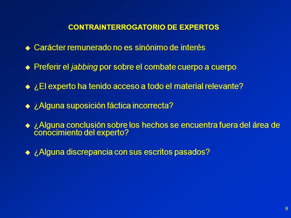 CONTRAINTERROGATORIO DE EXPERTOS