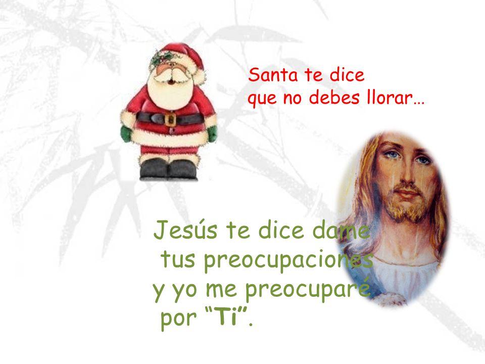 Jesús te dice dame tus preocupaciones y yo me preocuparé por Ti .