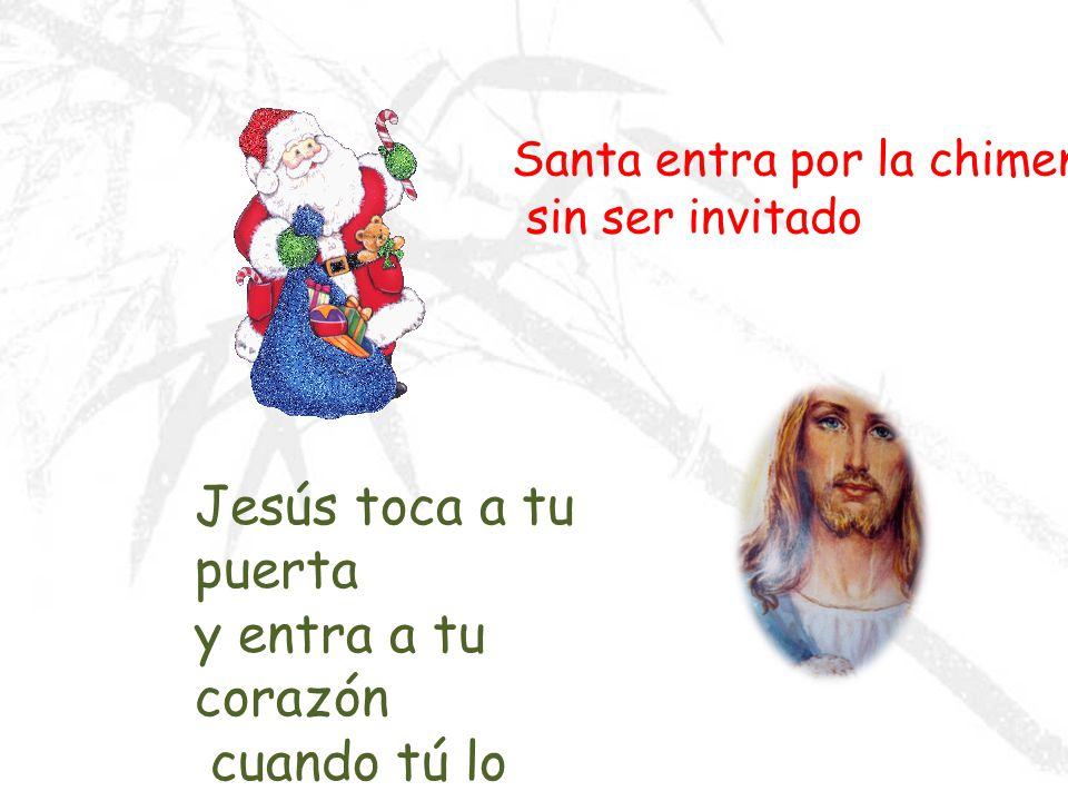 Jesús toca a tu puerta y entra a tu corazón cuando tú lo invitas.