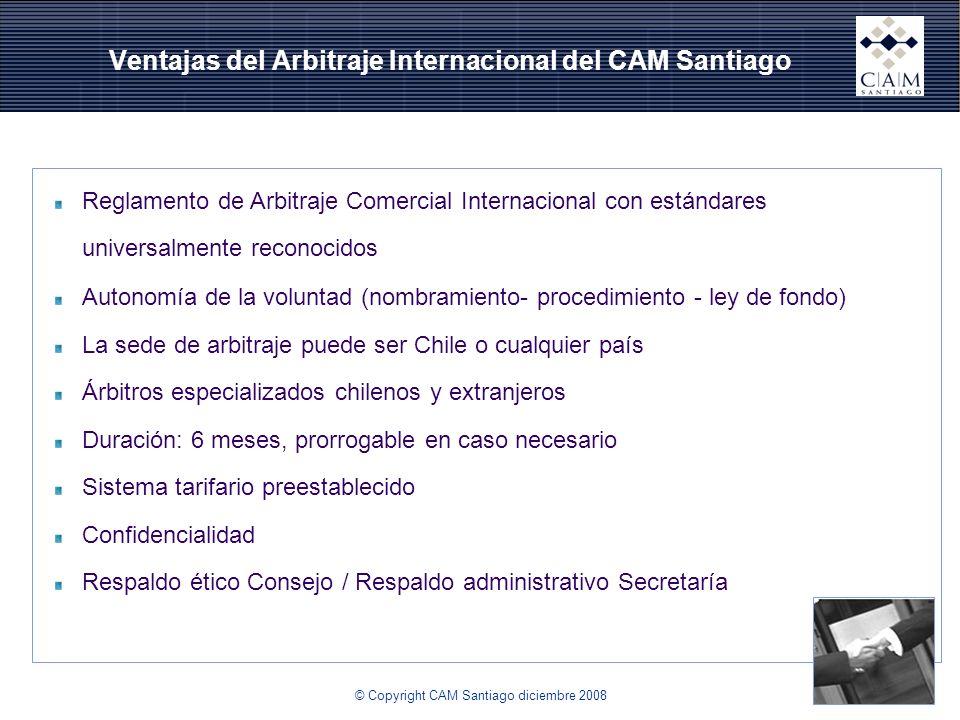 Ventajas del Arbitraje Internacional del CAM Santiago