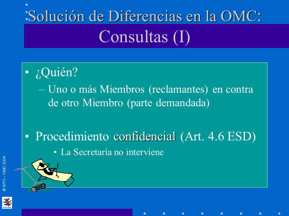 Solución de Diferencias en la OMC: Consultas (I)