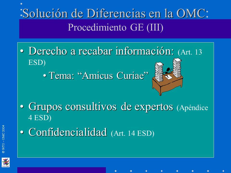 Solución de Diferencias en la OMC: Procedimiento GE (III)