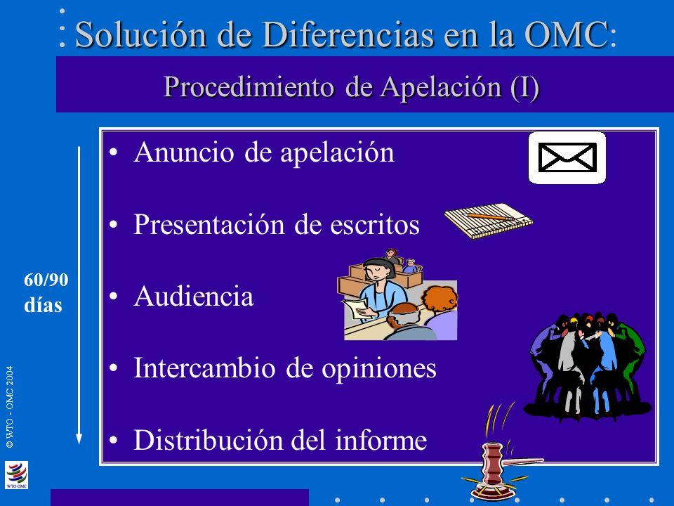 Solución de Diferencias en la OMC: Procedimiento de Apelación (I)