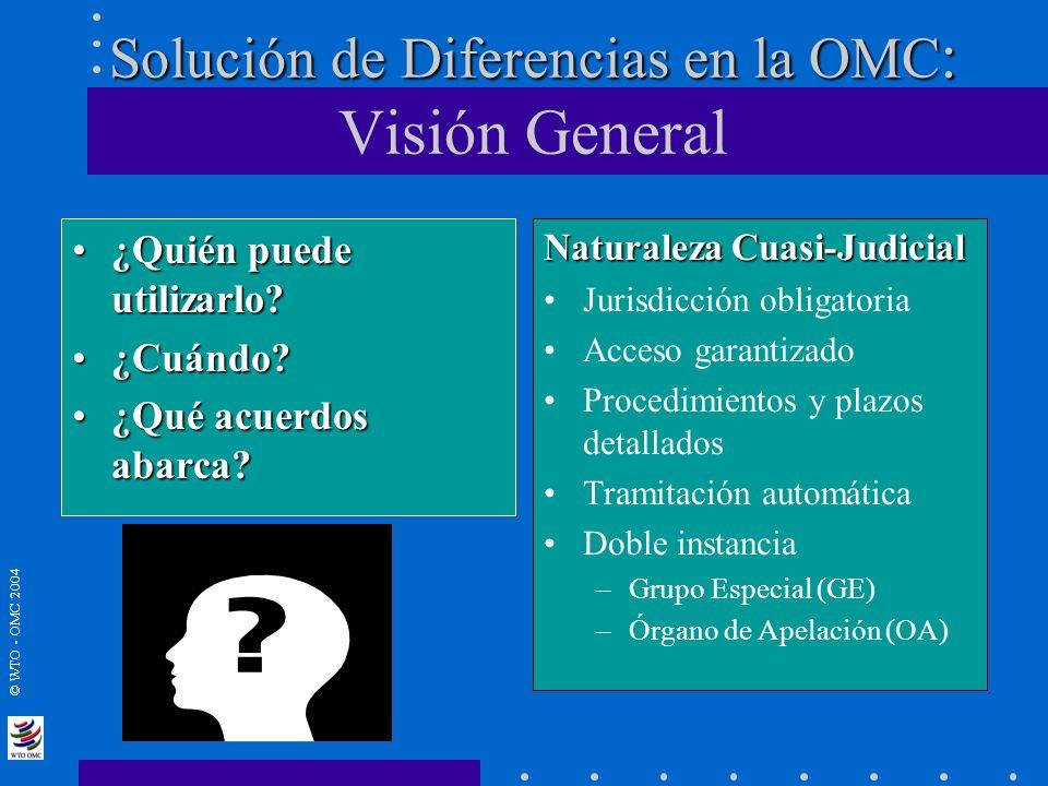 Solución de Diferencias en la OMC: Visión General
