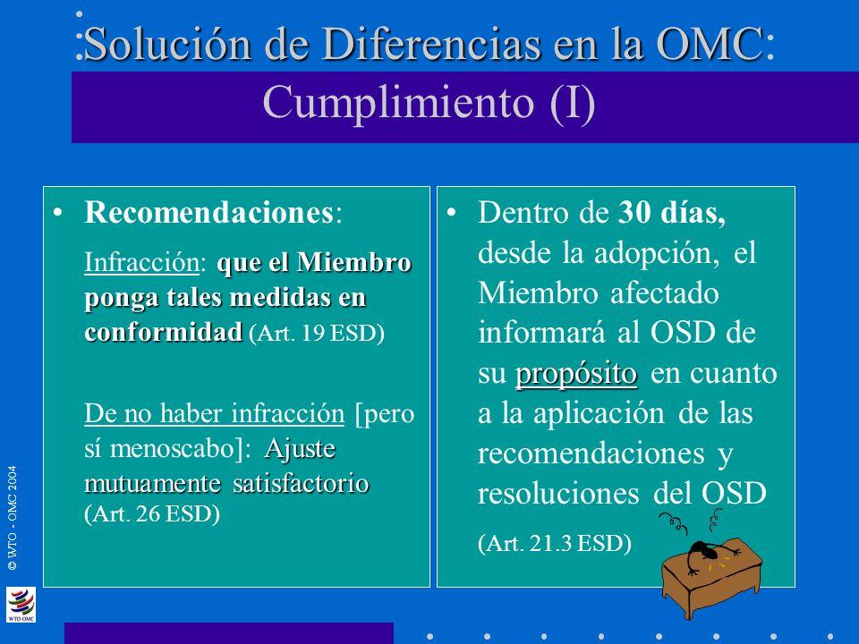 Solución de Diferencias en la OMC: Cumplimiento (I)