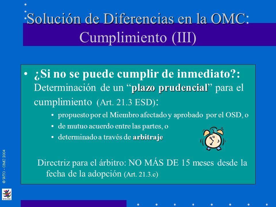 Solución de Diferencias en la OMC: Cumplimiento (III)