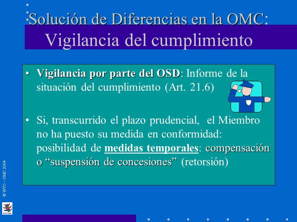 Solución de Diferencias en la OMC: Vigilancia del cumplimiento