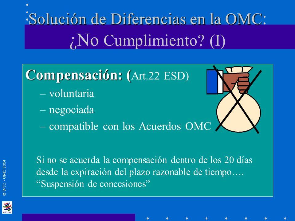 Solución de Diferencias en la OMC: ¿No Cumplimiento (I)