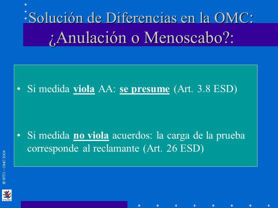 Solución de Diferencias en la OMC: ¿Anulación o Menoscabo :