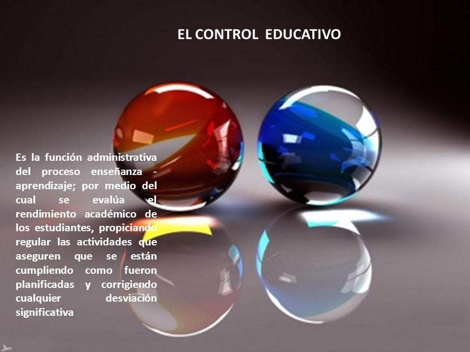 EL CONTROL EDUCATIVO
