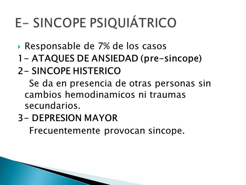 E- Sincope Psiquiátrico