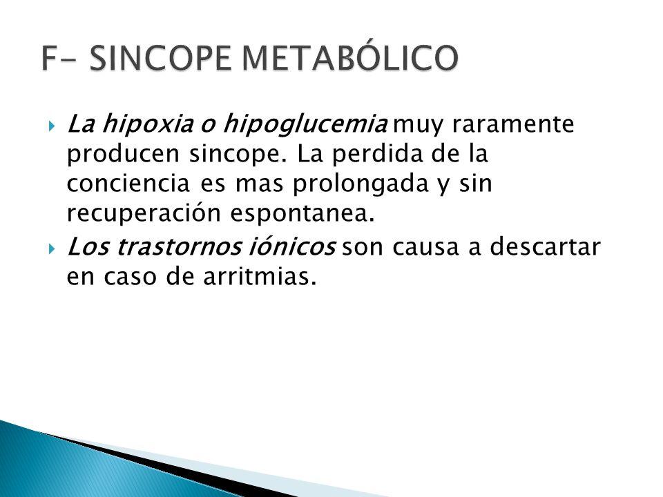 F- Sincope Metabólico
