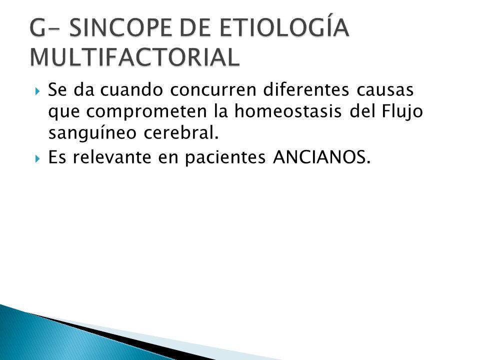 G- Sincope de etiología Multifactorial