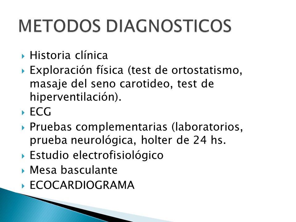 METODOS DIAGNOSTICOS Historia clínica