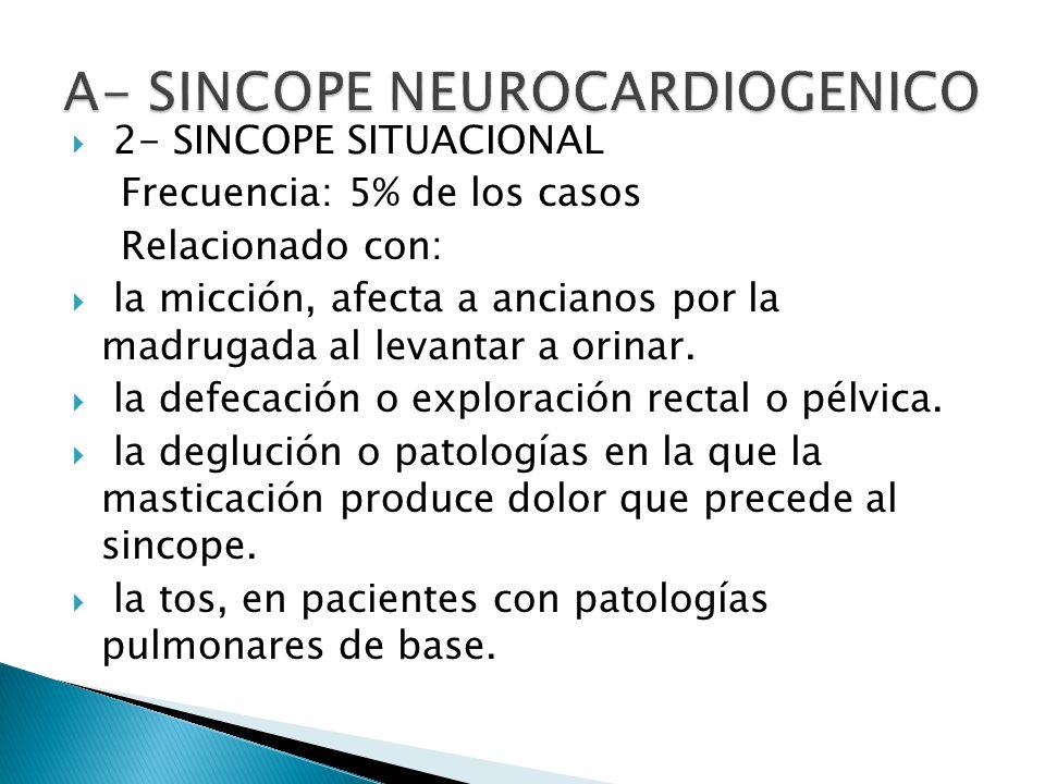 A- SINCOPE NEUROCARDIOGENICO