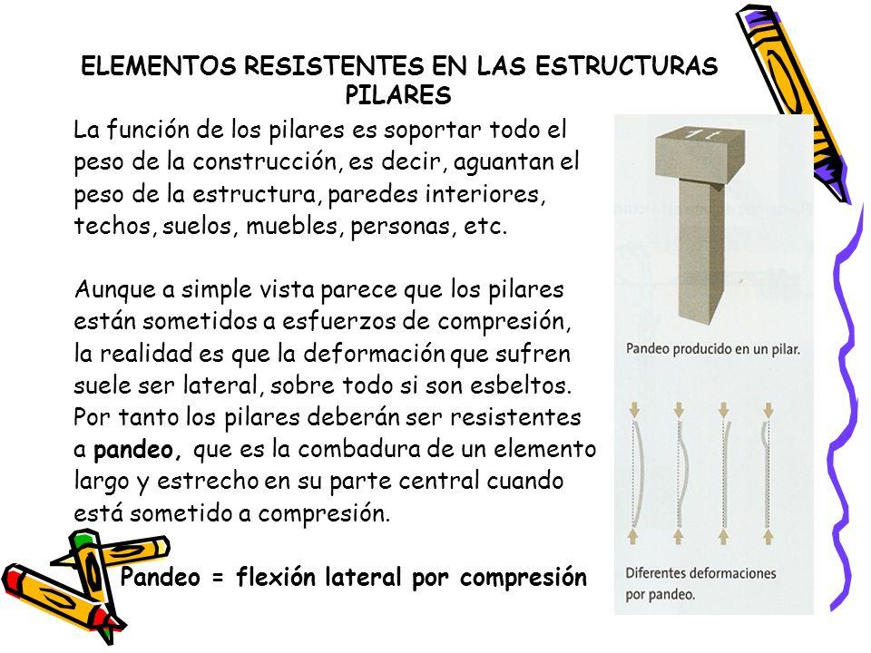 ELEMENTOS RESISTENTES EN LAS ESTRUCTURAS PILARES