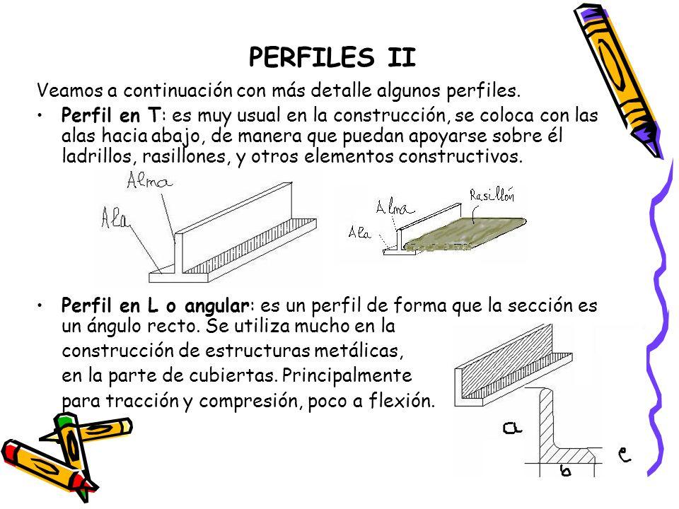 PERFILES II Veamos a continuación con más detalle algunos perfiles.