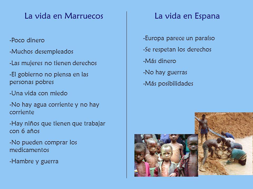 La vida en Marruecos La vida en Espana Europa parece un paraíso
