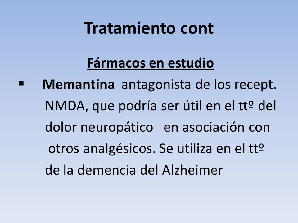 Tratamiento cont Memantina antagonista de los recept.