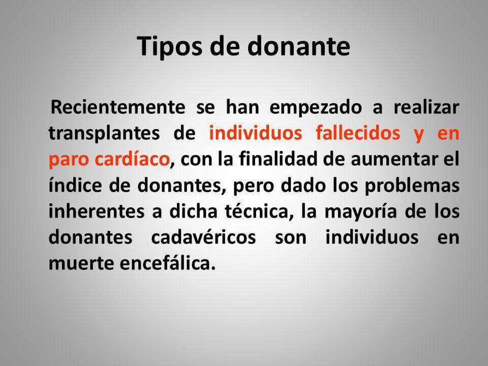 Tipos de donante