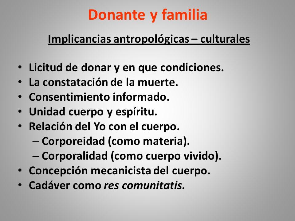 Implicancias antropológicas – culturales