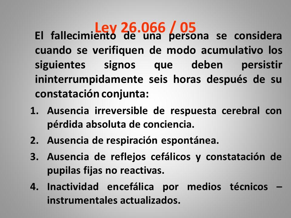 Ley 26.066 / 05