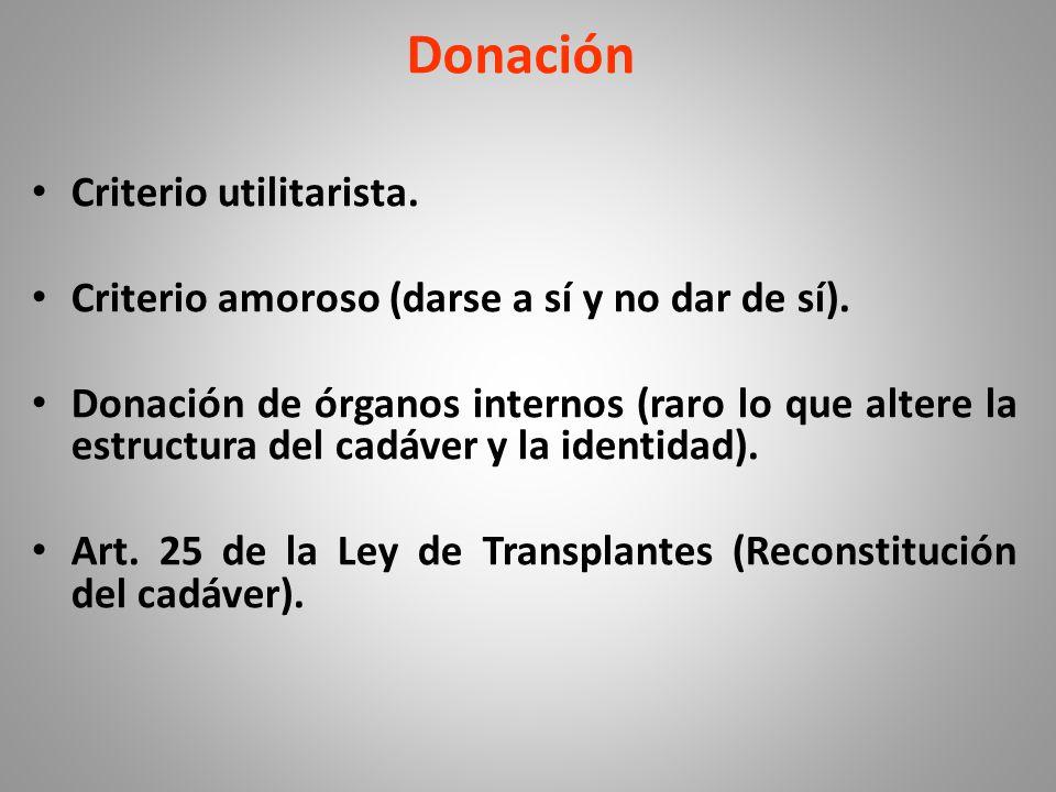 Donación Criterio utilitarista.
