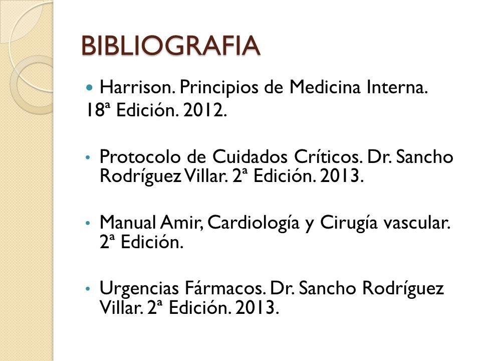 BIBLIOGRAFIA Harrison. Principios de Medicina Interna.