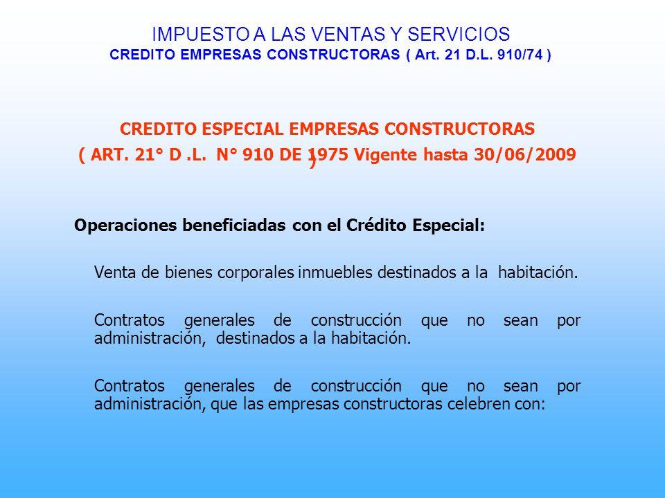 CREDITO ESPECIAL EMPRESAS CONSTRUCTORAS