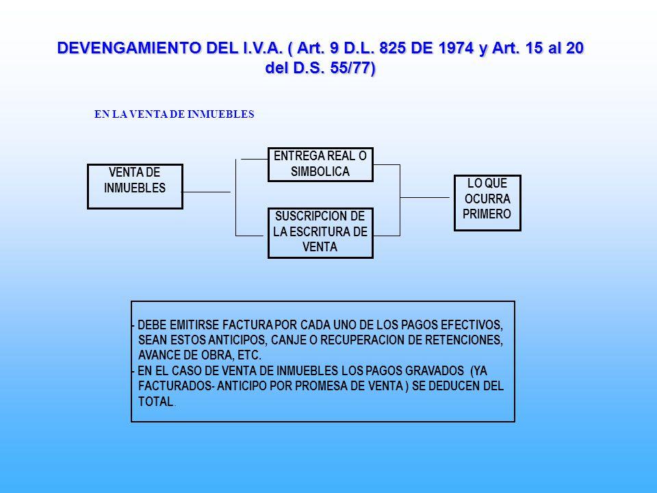 ENTREGA REAL O SIMBOLICA SUSCRIPCION DE LA ESCRITURA DE VENTA