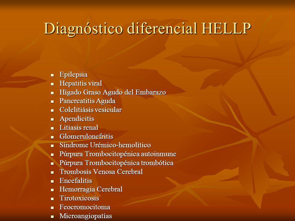 Diagnóstico diferencial HELLP