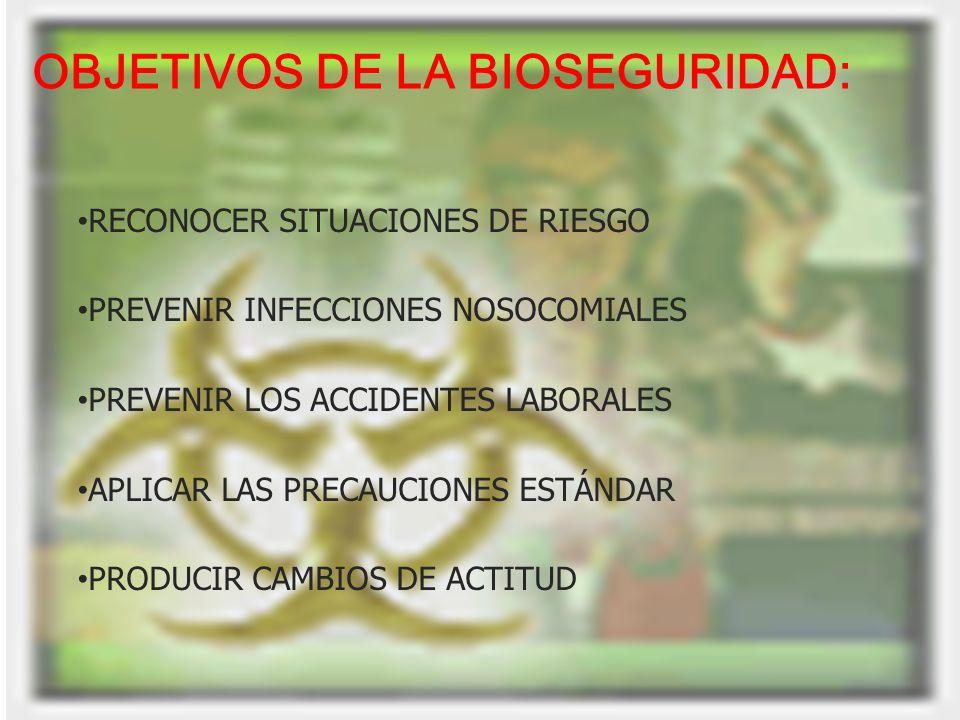 OBJETIVOS DE LA BIOSEGURIDAD: