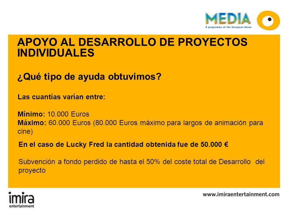APOYO AL DESARROLLO DE PROYECTOS INDIVIDUALES