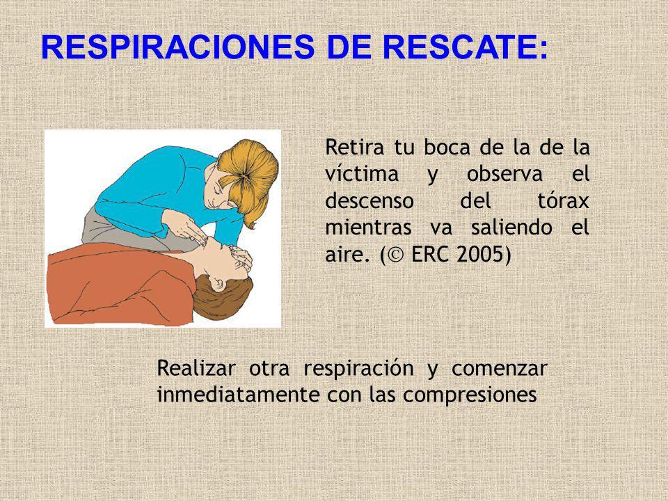 RESPIRACIONES DE RESCATE: