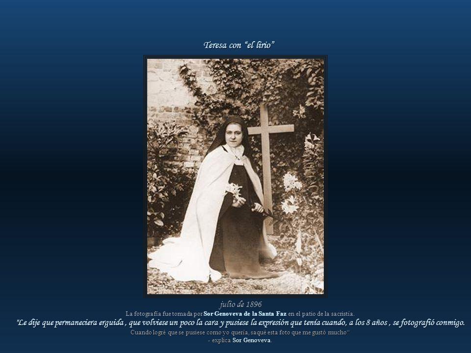 Teresa con el lirio julio de 1896