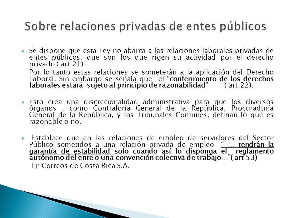 Sobre relaciones privadas de entes públicos