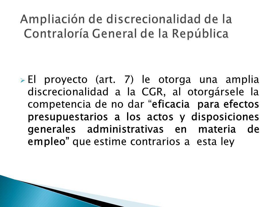 Ampliación de discrecionalidad de la Contraloría General de la República