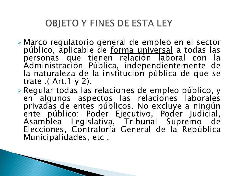 OBJETO Y FINES DE ESTA LEY