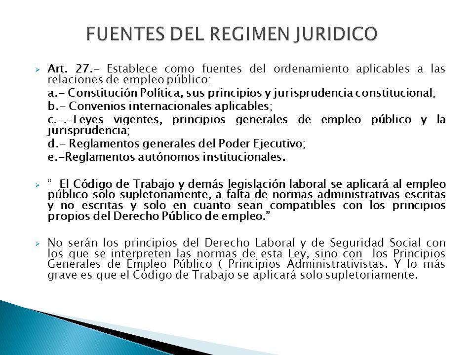 FUENTES DEL REGIMEN JURIDICO