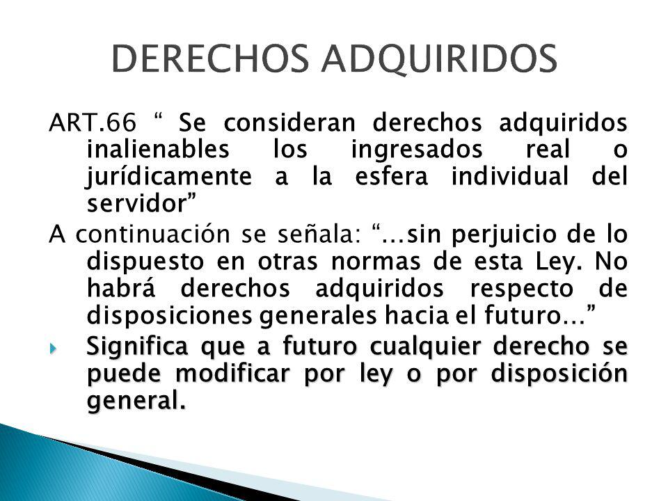 DERECHOS ADQUIRIDOS